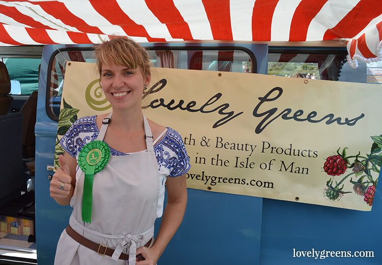 Using a VW Camper Van and vintage awning as a Farmers Market Stall got 3rd place in best display design at the show