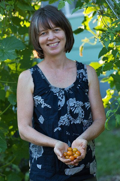 Megan Cain of the Creative Vegetable Gardener blog