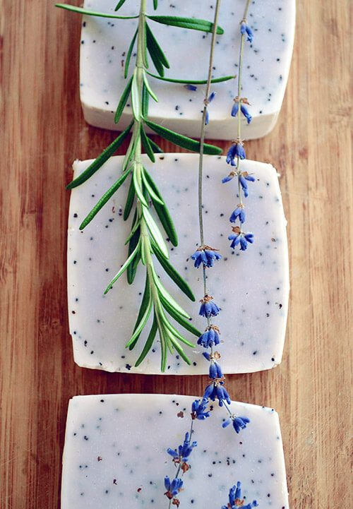 Lavender & Rosemary Hand Soap Recipe #soap