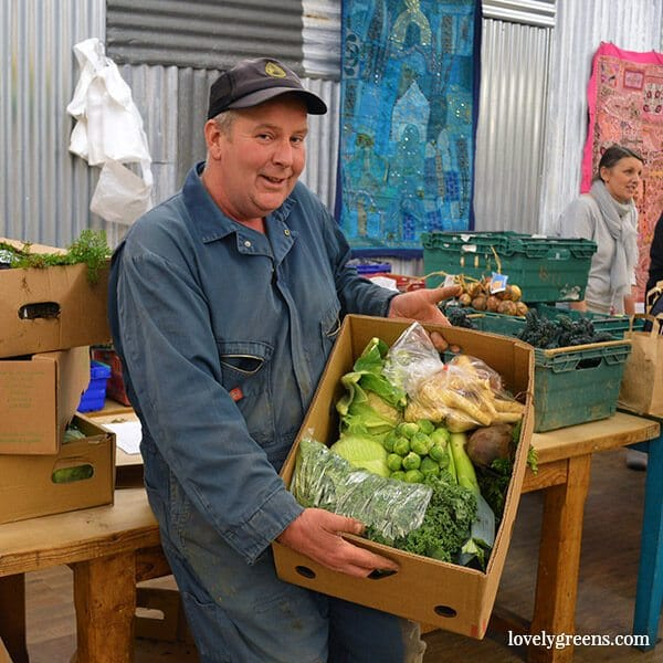 Getting my Locavore on at the Isle of Man Food Assembly: Bryan Radcliffe vegetables