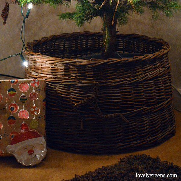 Hand-woven Christmas Tree Skirt by John Dog Callister