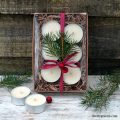 How to make Scented Tea Lights + gift box decorating tips