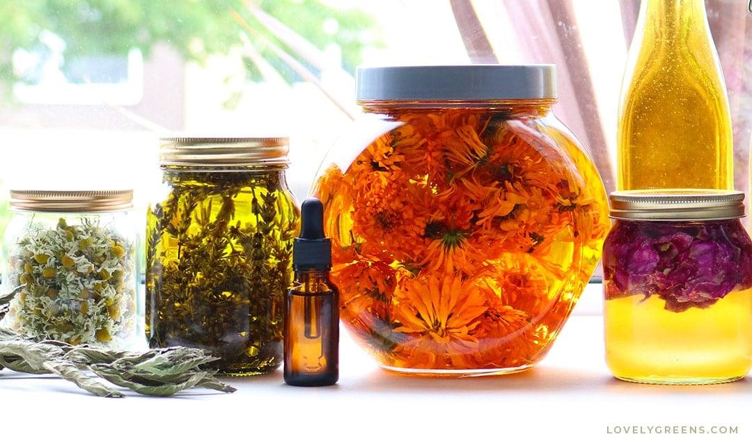 How to use Skin Healing Plants to make DIY Herbal Skincare