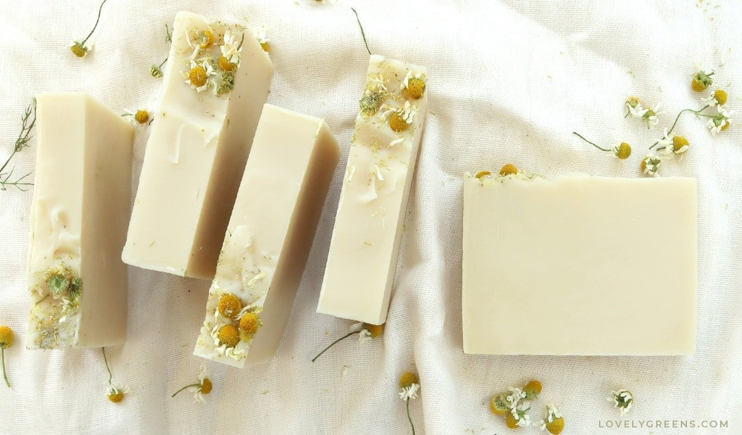 Natural Chamomile Soap Recipe + Soap Making Instructions