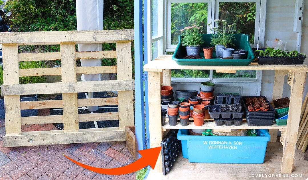 How to Build a DIY Wood Pallet Potting Bench