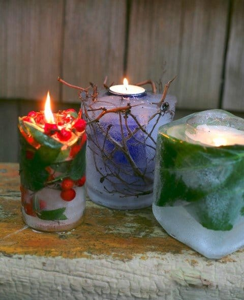 Celebrate the winter solstice with these creative nature crafts, supporting wildlife in winter, warming food recipes, and experiences. Candle idea from Garden Therapy #wintercrafts #yule #wintersolsticeideas