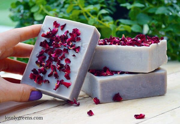Natural Rose Geranium Soap Recipe by Lovely Greens