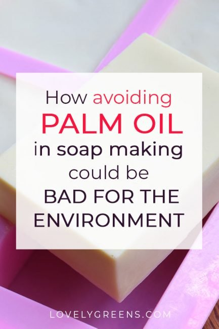 Palm-free soap? A palm oil boycott might seem a good thing but it could spell environmental disaster. Here's how avoiding palm oil in soap making could cause deforestation #lovelygreens #soapmaking #soap #palmoil