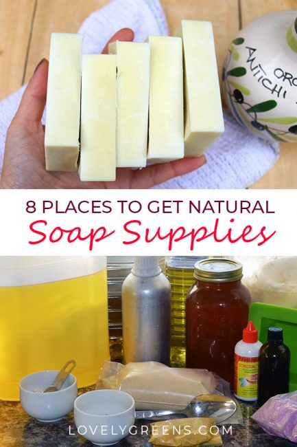 Ideas for sourcing inexpensive and natural soap supplies including oils, beeswax, honey, herbs, and flowers from a rural soap maker#soap #soapsupplies #lovelygreens