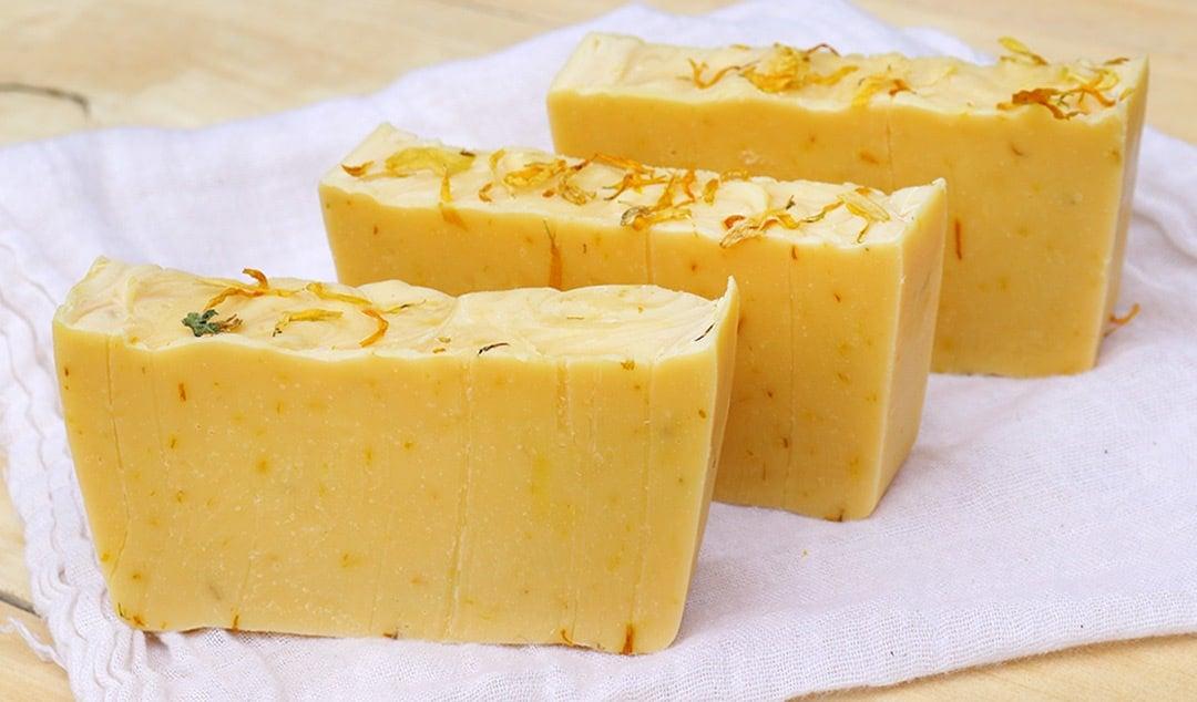 Zesty Citrus & Calendula Soap Recipe