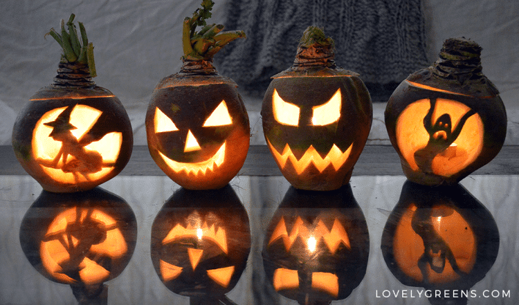 How to Easily Carve a Turnip Jack-o-Lantern