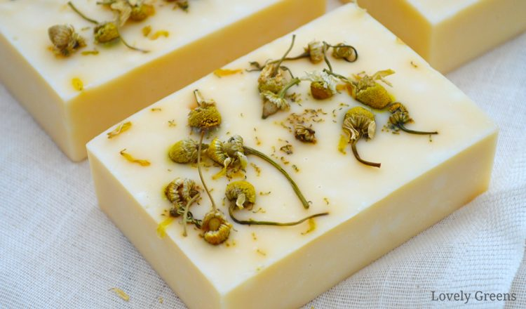 Natural Chamomile Soap Recipe + soap making instructions