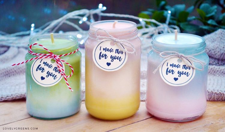 Natural Ombre Candles Recipe Instructions Lovely Greens