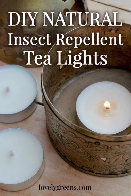 DIY Natural Insect Repellent Tea Lights