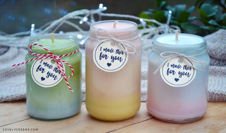 Natural Ombre Candles Recipe & Instructions