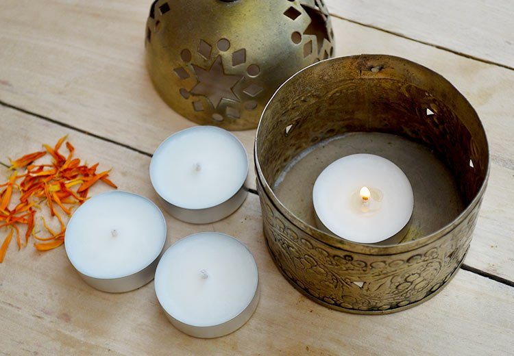 How to make Natural Soy Wax Tea Lights