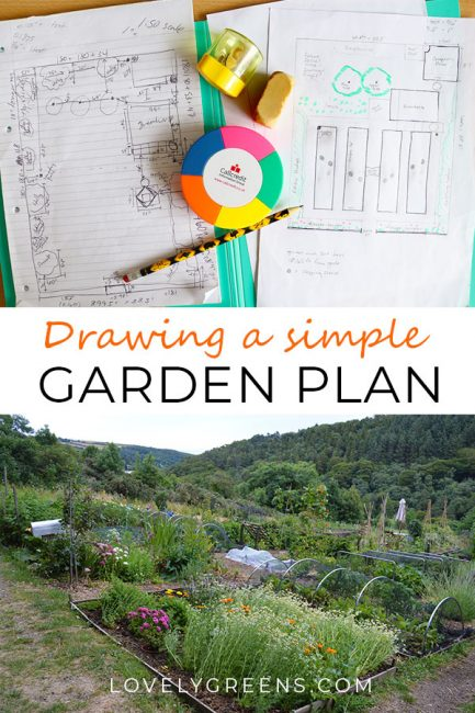 Vegetable Garden Design: How to draw a Simple Garden Plan. Creating a to-scale simple garden plan can help you design your perfect home vegetable garden #lovelygreens #gardendesign #gardenplan #vegetablegardenplan #gardening #gardeningtips