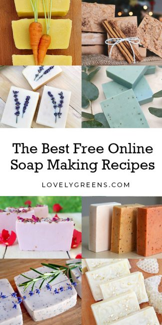 A collection of free natural soap making recipes including floral, citrus, herbal, vegetable, spice, and farmhouse soap recipes. Simple and beautiful soap ideas suitable for beginner soap makers and the more advanced #soapmaking #soaprecipe