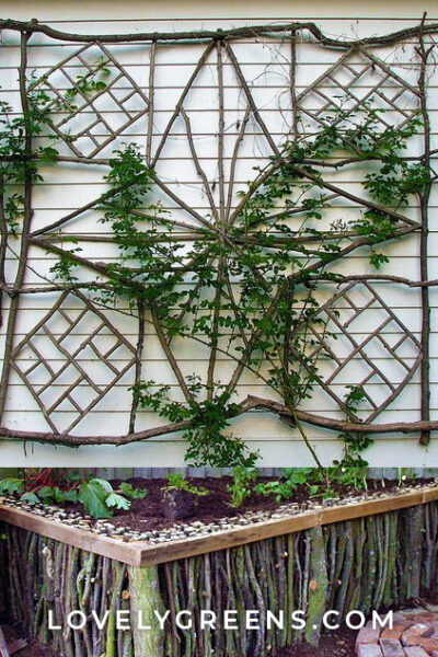 30+ Garden Projects using Sticks & Twigs. Garden beds, edging, plant markers, plant supports, birdhouses and more #gardeningtips #diygarden #gardening