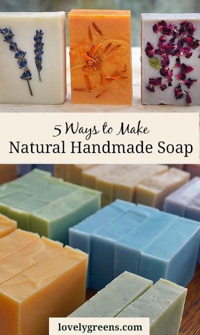 5 Ways to make Natural Handmade Soap