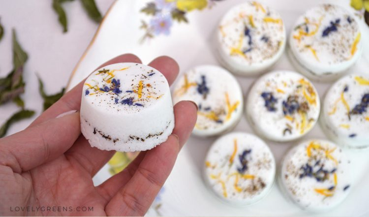 Make all Natural Bath Bombs with sweet Herbal oils