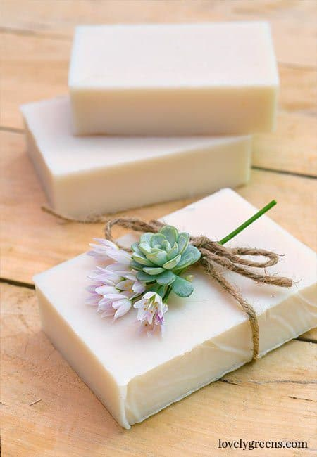 Pure White Natural Goat Milk Soap