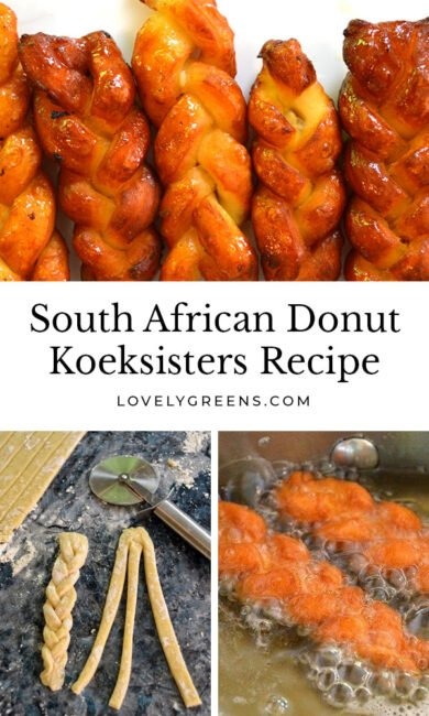 A South African koeksisters recipe that shows you how to make traditional braided doughnuts that are sweet and literally oozing in sweet spiced syrup #southafrican #donutrecipe #doughnutrecipe