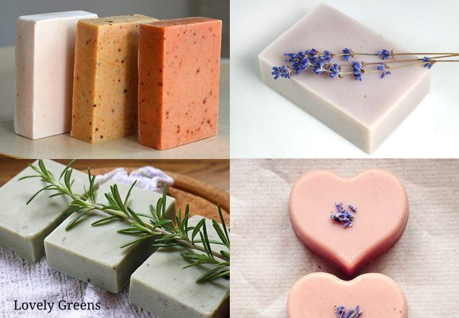 An introduction to five creative ways to make natural soap at home including cold-process, hot-process, liquid soap, melt-and-pour, and rebatching #soaprecipe #soapmaking