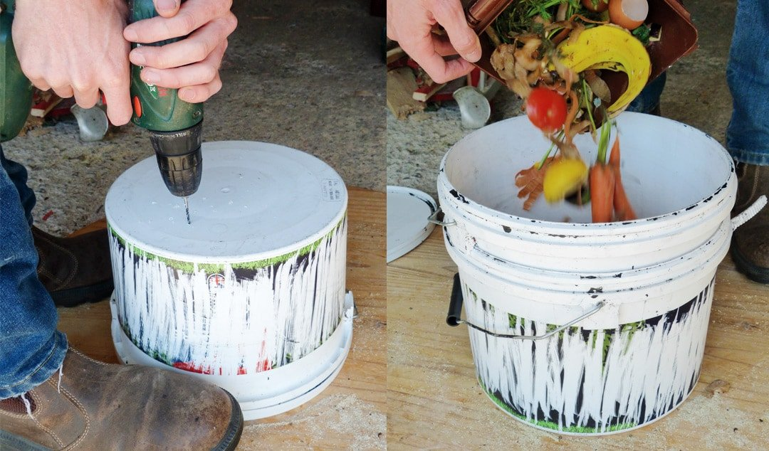 Making and Using a DIY Bokashi Bin