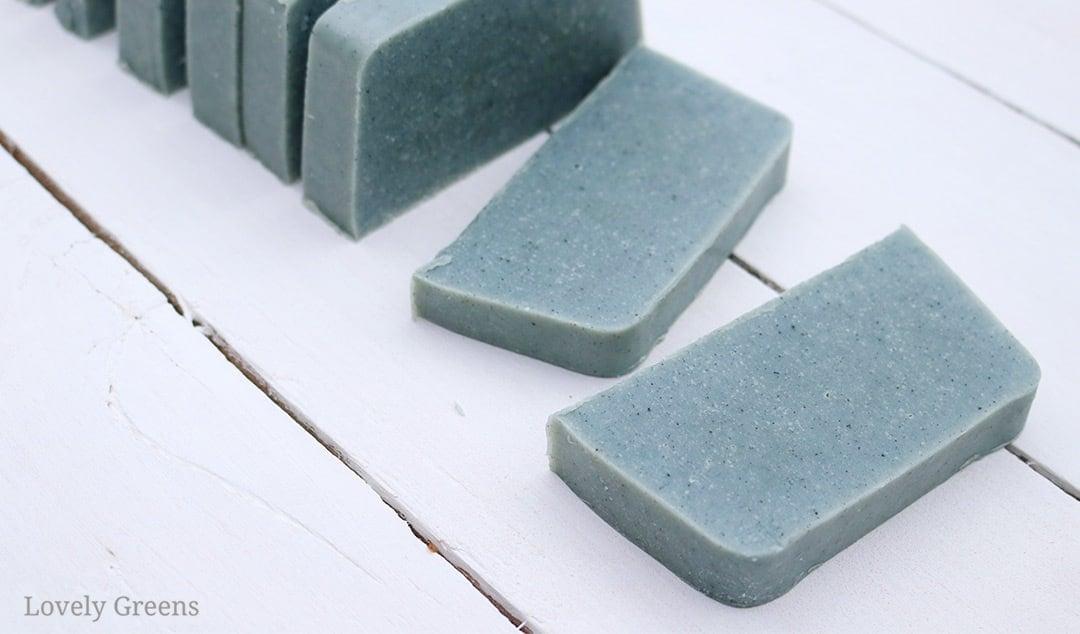 Woad Soap Recipe: Naturally coloring soap blue