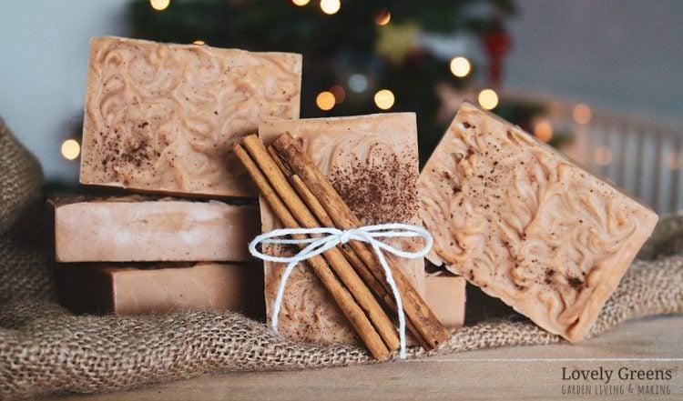 All Natural Cinnamon Soap Recipe + Instructions