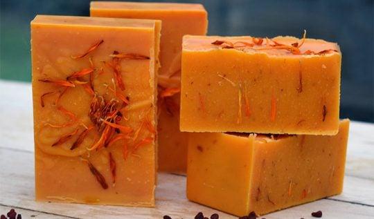 Annatto Soap Recipe -- a natural orange colored soap