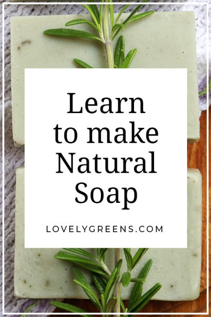 Learn how to make natural soap using herbs and oils. Dozens of recipes and full cold-process soap making instructions #soaprecipe #soapmaking