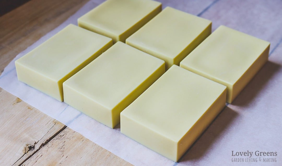 Simple Castile Soap Recipe: how to make olive oil soap with just three ingredients