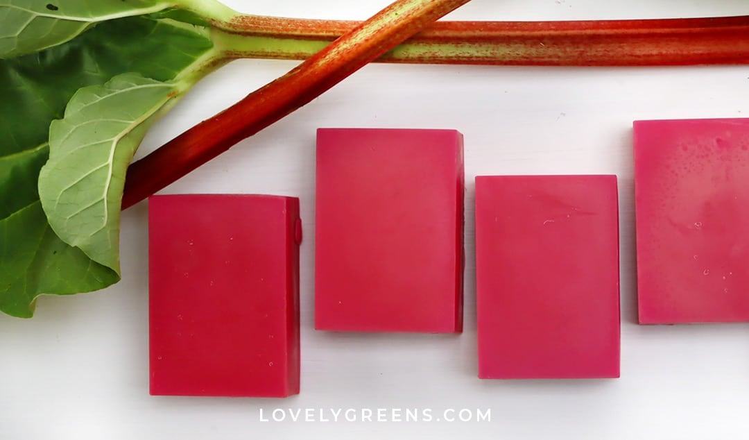 Himalayan Rhubarb Soap Recipe: a Natural Red Soap Colorant