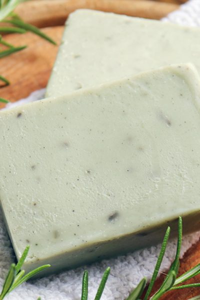 Natural Rosemary Soap Recipe for Oily Skin with Cambrian Blue Clay