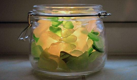 DIY Sea Glass Candle