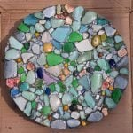 How to make a sea glass stepping stone
