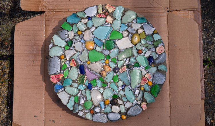 Video: How to make a Sea Glass Stepping Stone