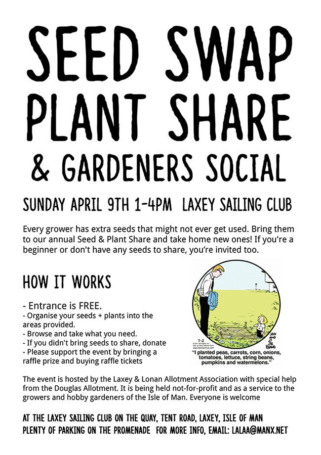 Seed Swap & Plant Share on the Isle of Man