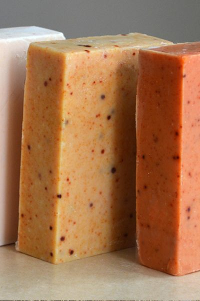 Natural Turmeric Soap Recipe – tints soap light pink-yellow to burnt orange