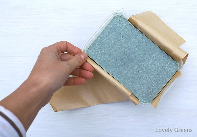 Naturally color soap blue using woad